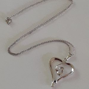 Jewelry - 925 sterling silver heart pendant necklace